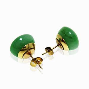 Fine Jade Stud Earrings